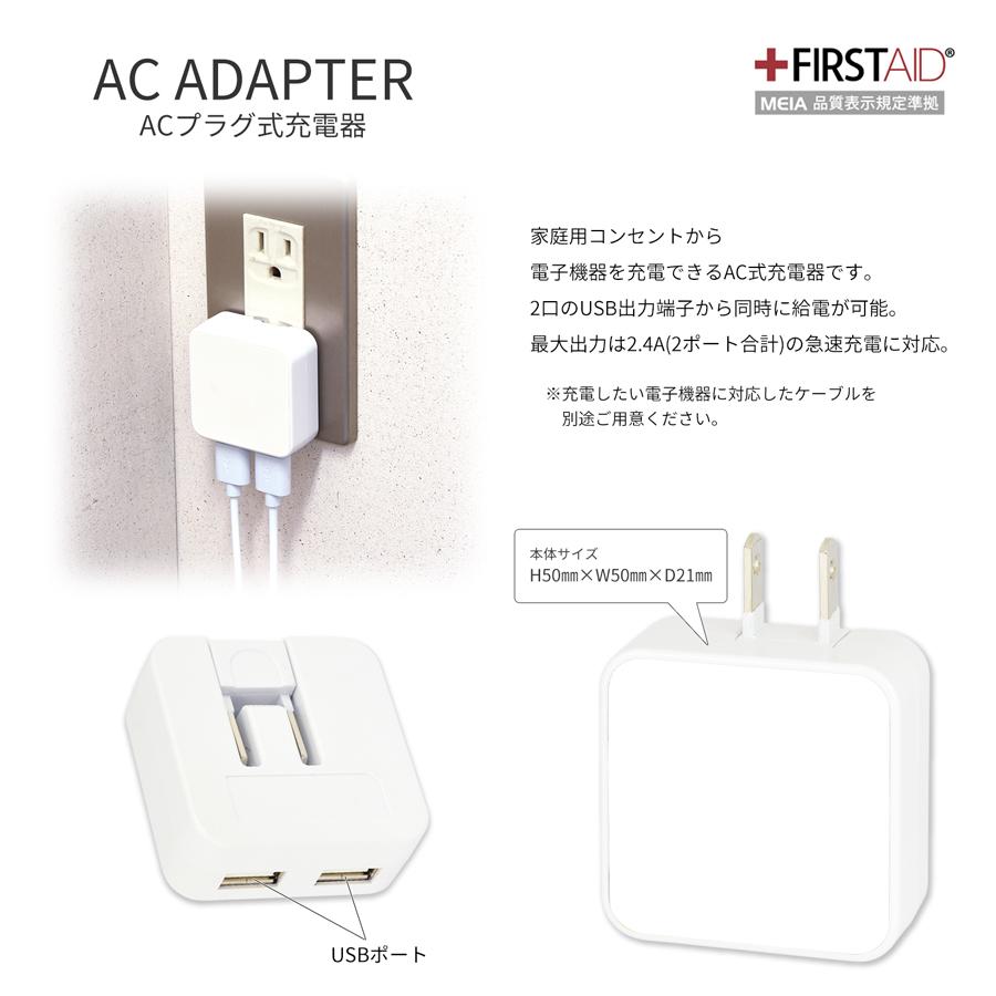 ミッフィー オータムカラー USB2ポート ACアダプタ