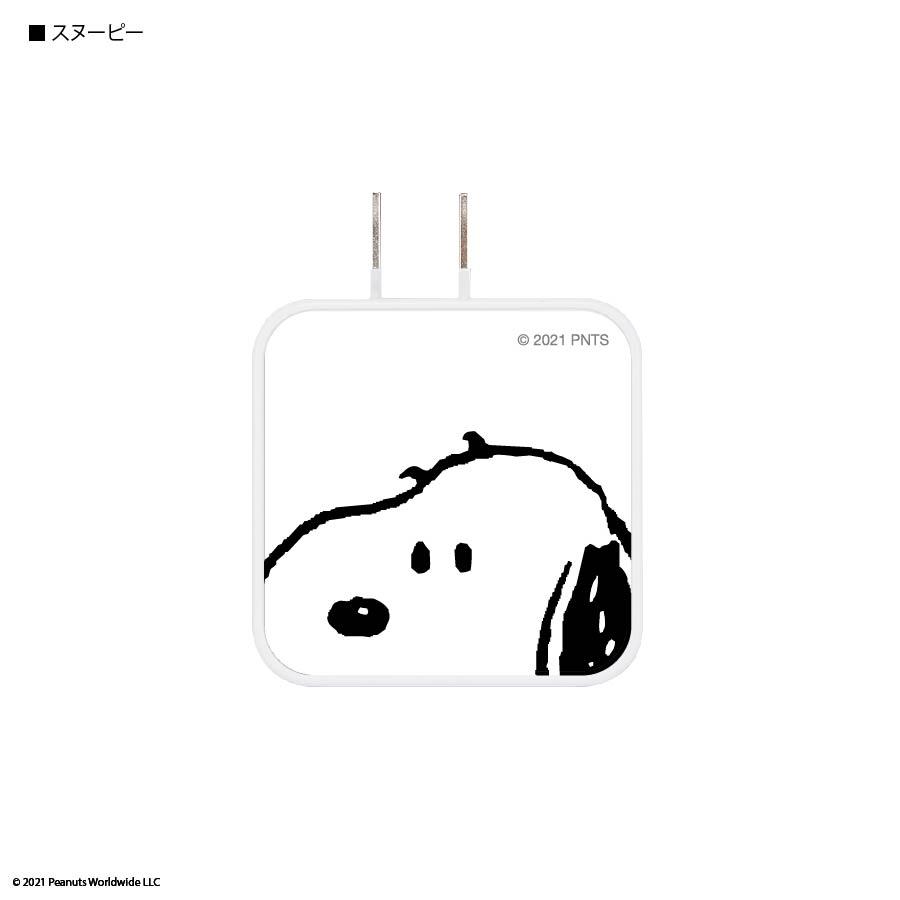 ピーナッツ USB/USB Type-C ACアダプタ