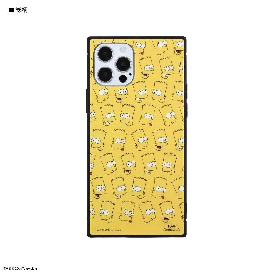 ザ・シンプソンズ / iPhone12/12 Pro対応スクエアガラスケース