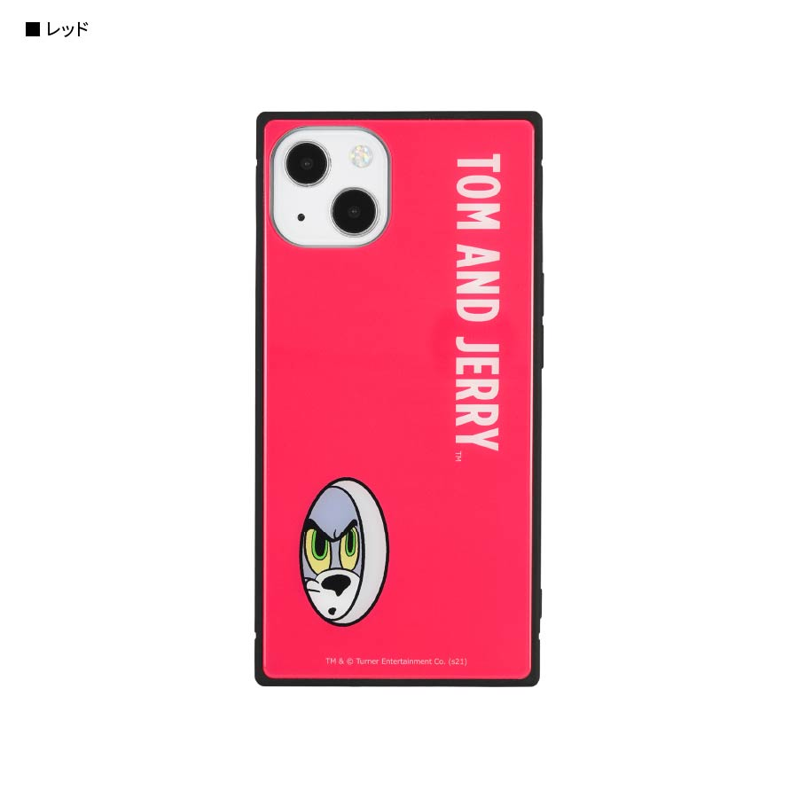 12月上旬発売予定 トムとジェリー【FUNNY ART series】 iPhone13対応 スクエアガラスケース