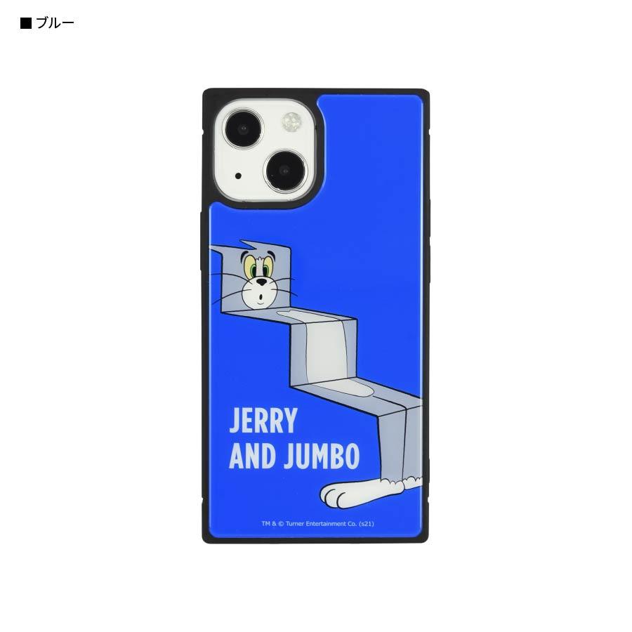 12月上旬発売予定 トムとジェリー【FUNNY ART series】 iPhone13 mini/12 mini対応 スクエアガラスケース