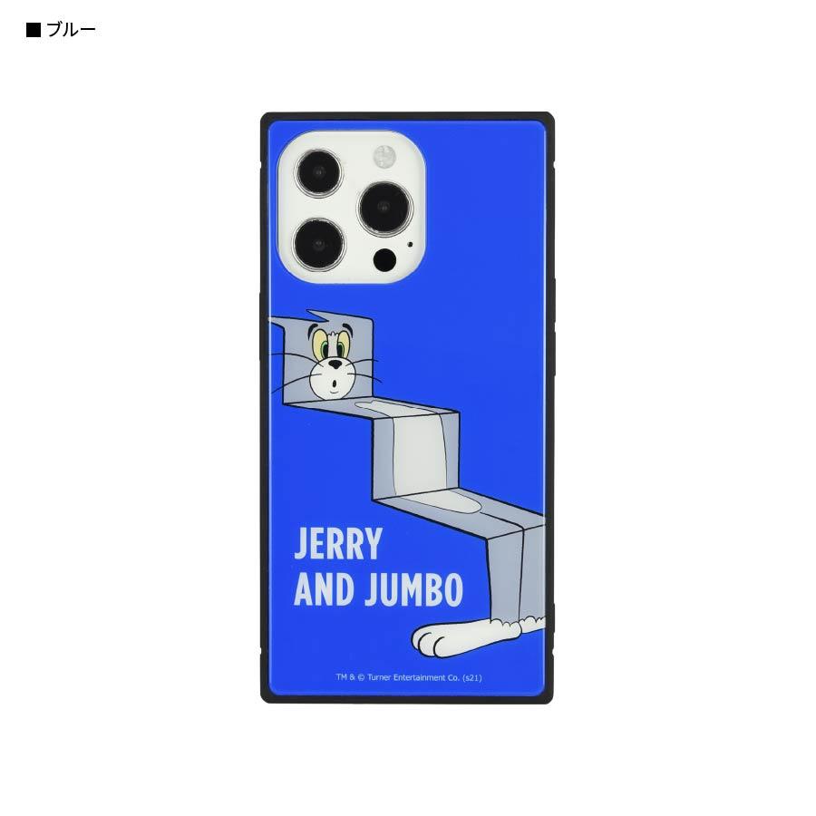 12月上旬発売予定 トムとジェリー【FUNNY ART series】 iPhone13 Pro対応 スクエアガラスケース