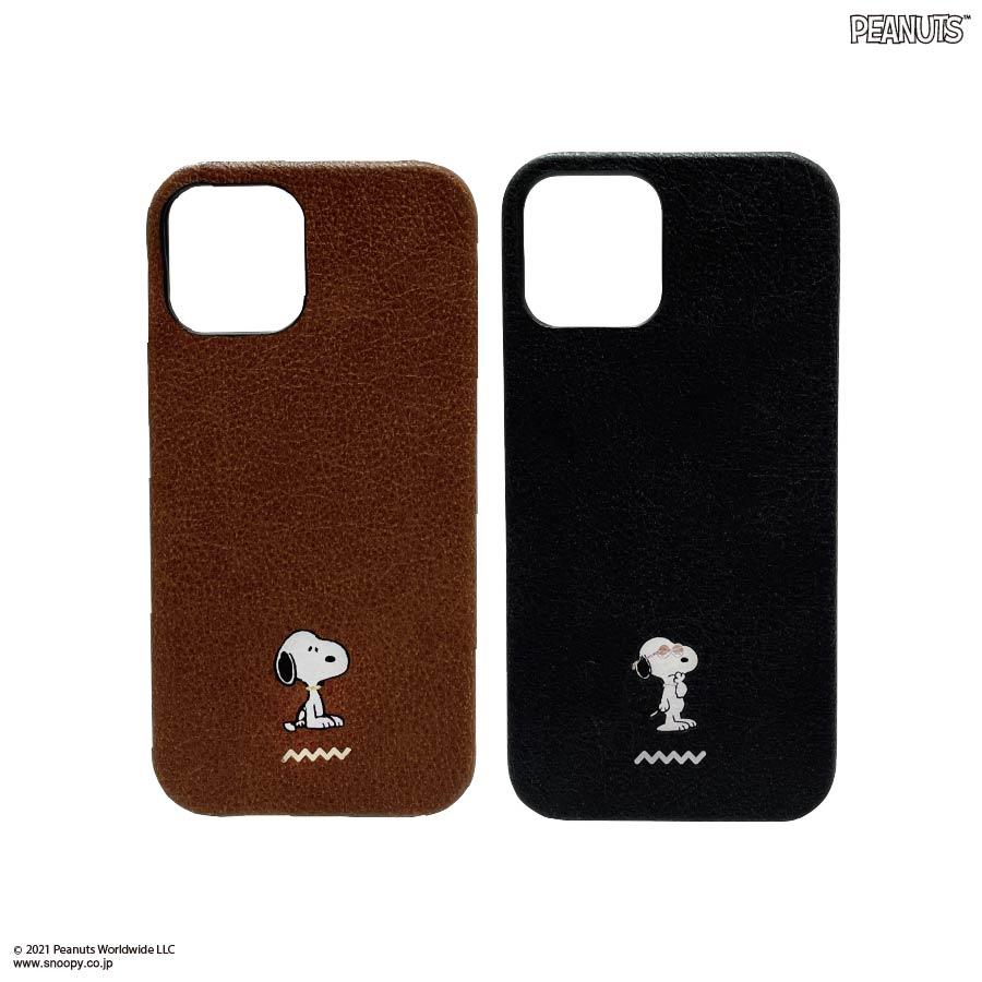 ピーナッツ iPhone12/12 Pro対応プレミアムシェルケース