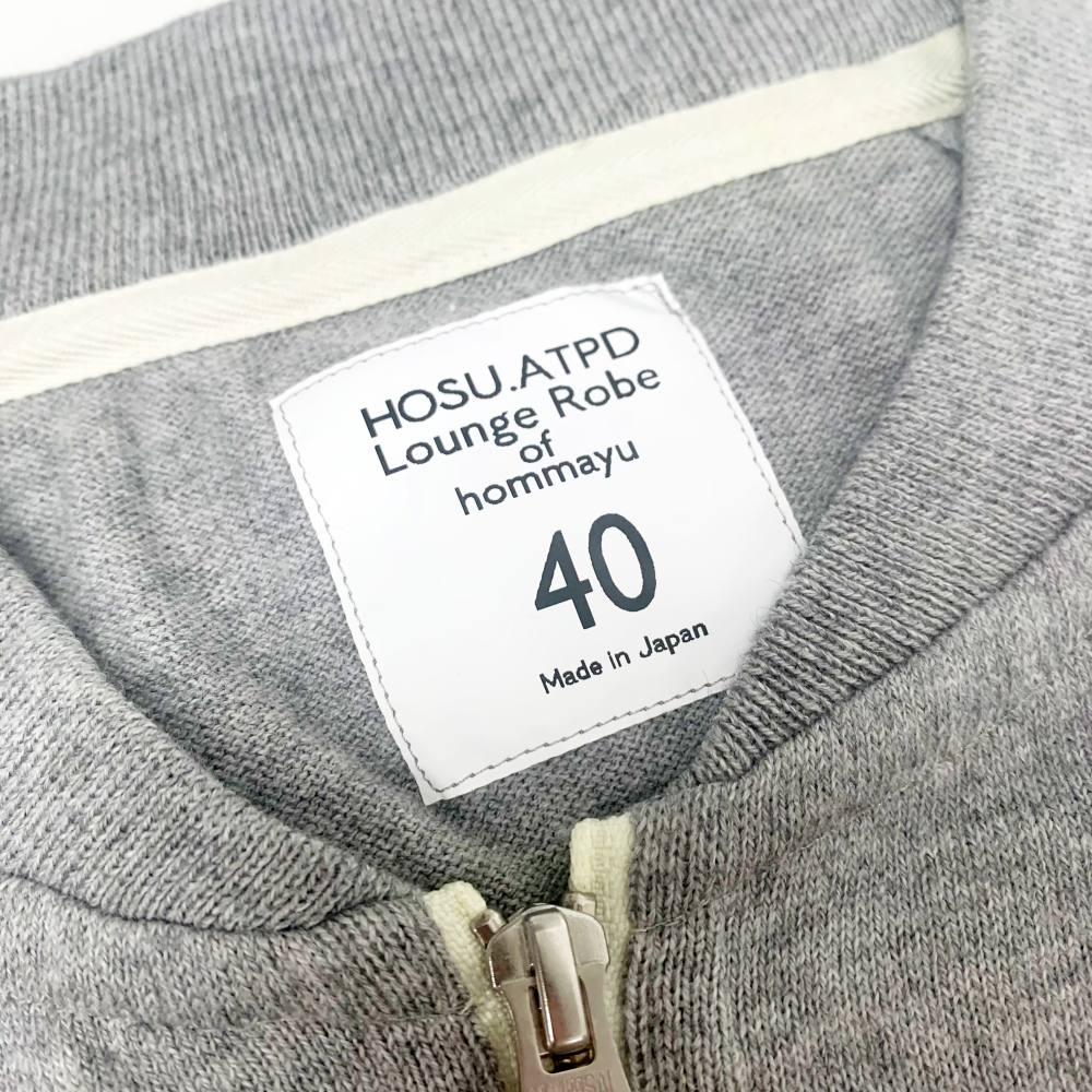 【新潟製!自宅洗濯可能】HOSU コットンカシミヤZIPブルゾン 杢グレー