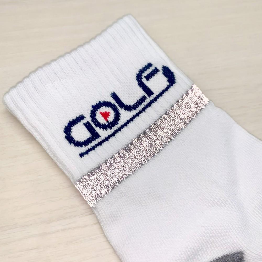 【お洒落は足元から】ゴルフモチーフのリフレクション付き高機能ソックス