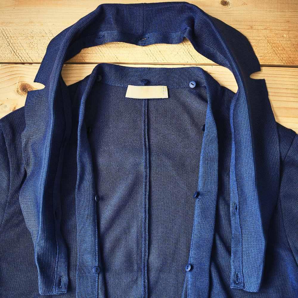 【ゴルフ場でサラっと着れる】襟着脱式 2WAYニット カーディガン ジャケット