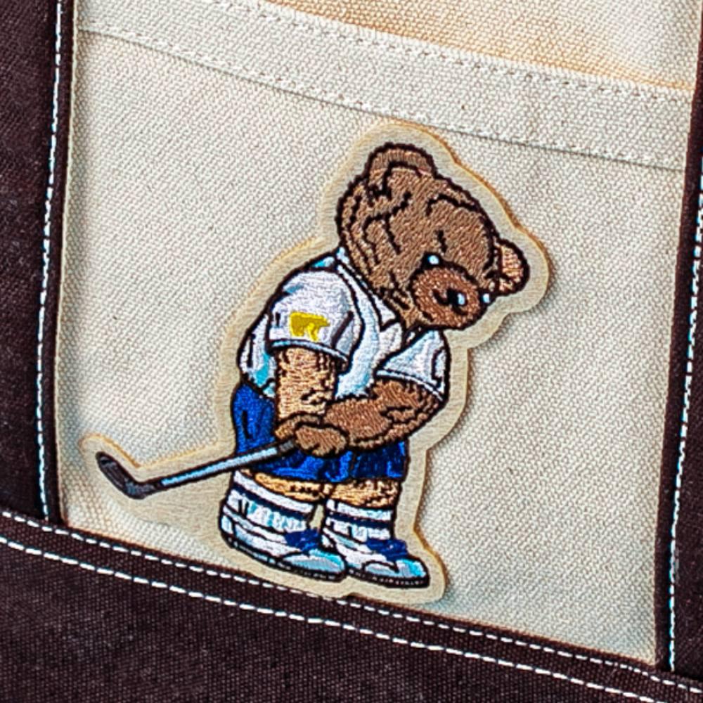 【クマ勢ぞろい】ゴールデンベア帆布トートバッグ