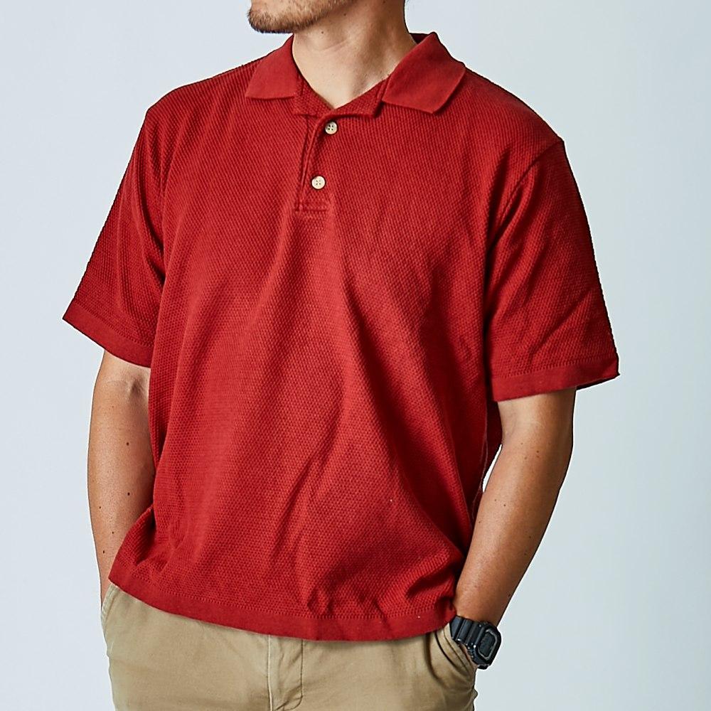【軽やかさと上品さ】日本製ニットポロシャツ