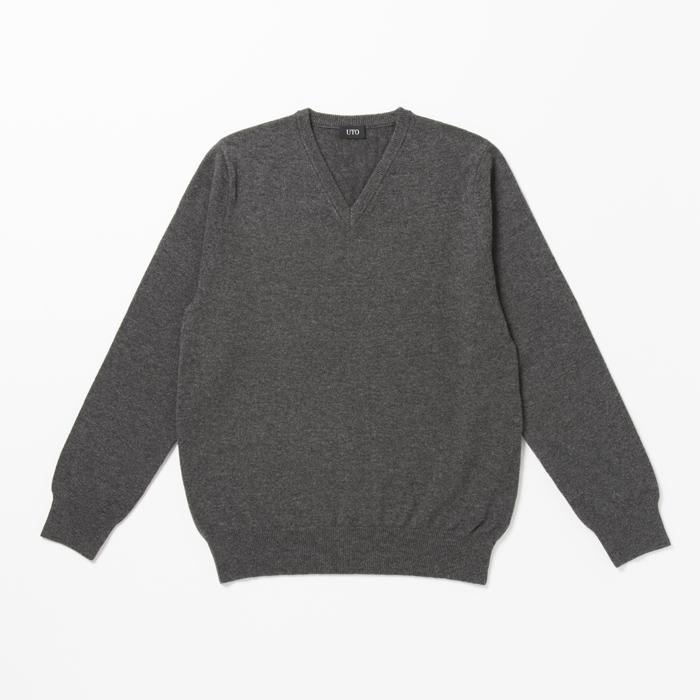 【週ゴル別注】UTOカシミヤ メンズVネック&レディス丸首セーター