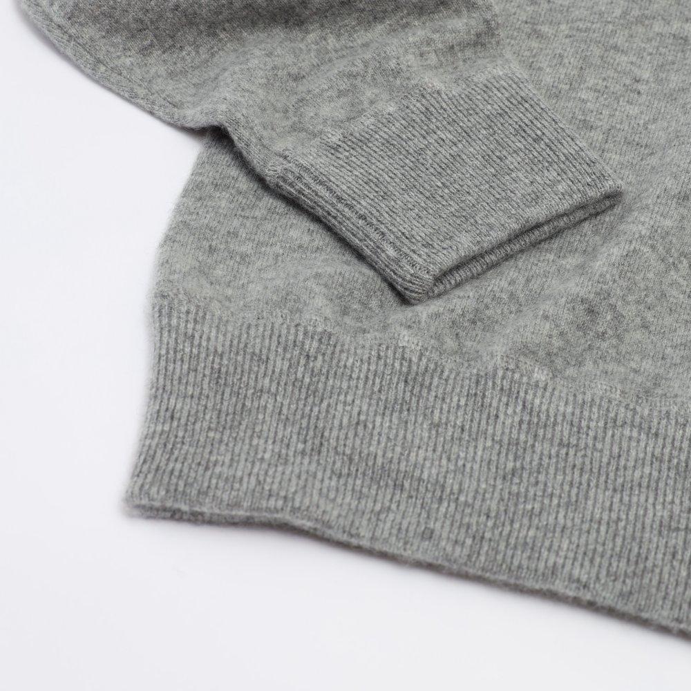 品切れ【スウェット感覚】HOSU カシミヤ100%クルーネックセーター