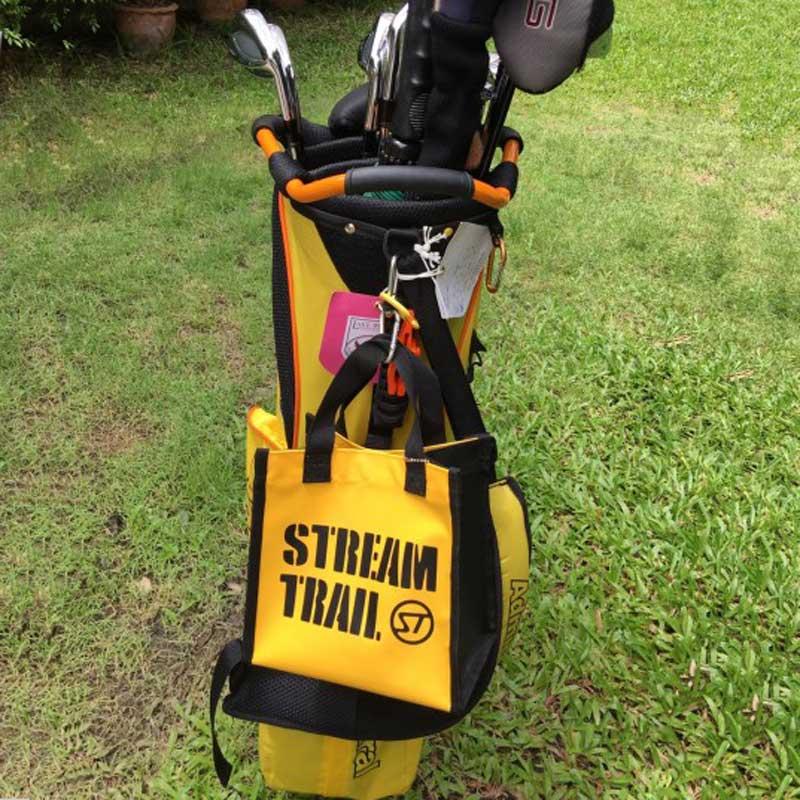 【防水素材で汚れも気にならない】Stream Trail ラウンドバッグ