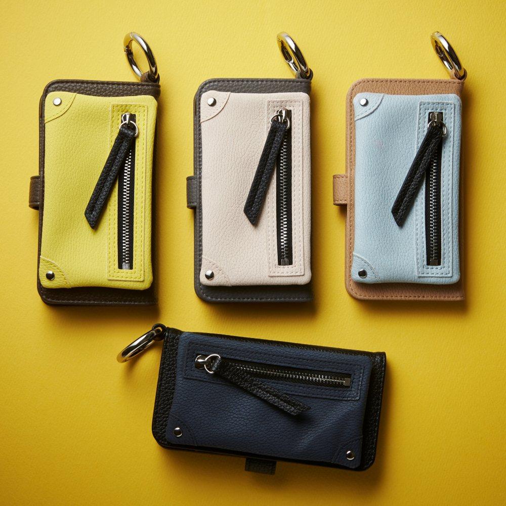 【画面が見られず安心】A SCENE 手帳型iphoneケース
