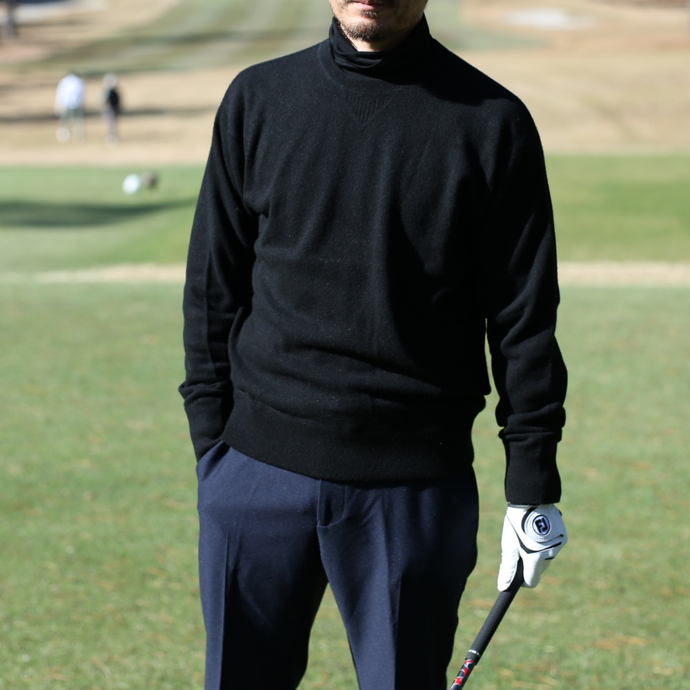 New!【ゴルフに出張にデートに】万能ウールモックネックロングスリーブ