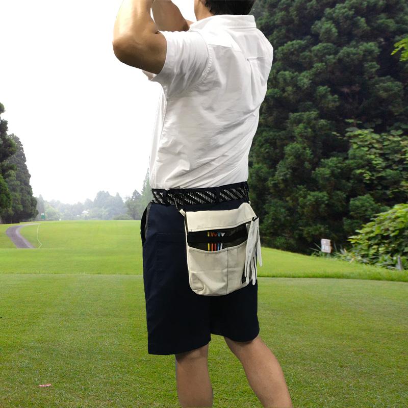 【ゴルフ専用3WAY】サコッシュ付トートバッグ・ショートパンツ