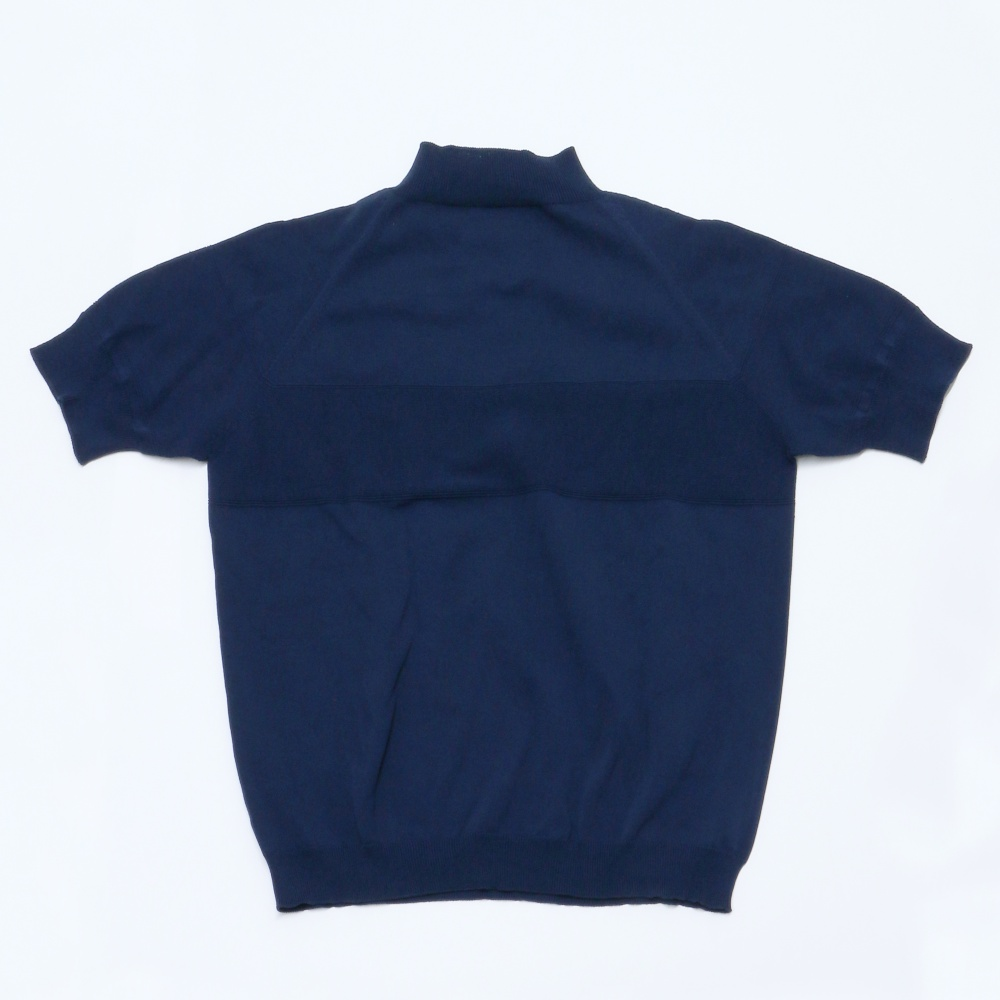 【ニット地が洒落感UP】サマーニットモックネックシャツ