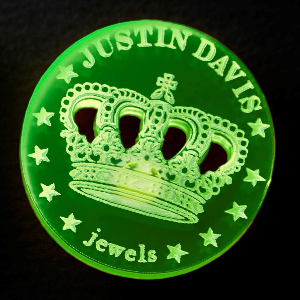 【勝利を呼び寄せるクラウン柄】JUSTIN DAVISオリジナルゴルフマーカー