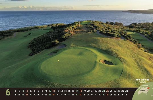 2021ワールドゴルフコース 卓上カレンダー