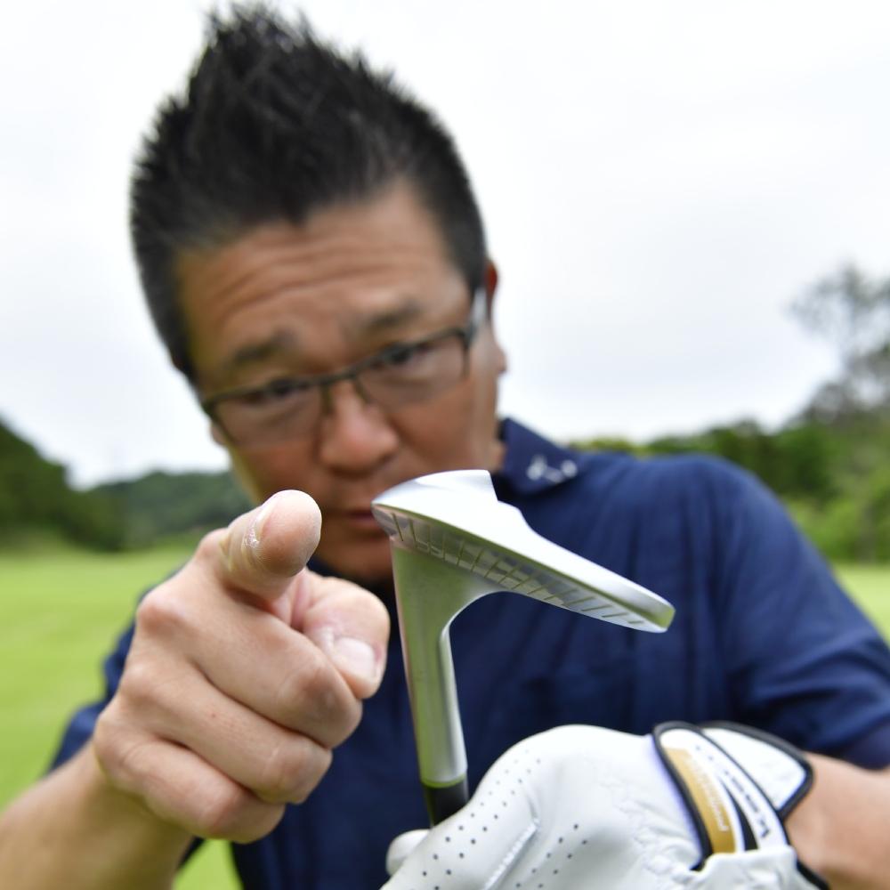 台形ソール(DAIKEI SOLE)ウェッジ「フルスコアライン」ブラックボロン粗研磨ブラスト