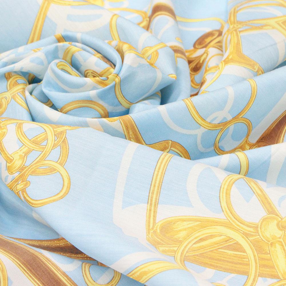 シルク100%スカーフ(花柄4)