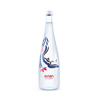 【限定販売】エビアン×イネス・ロンジェビアル 限定グラスボトル