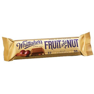 ウィッタカー フルーツ&ナッツ チョコレートバー 50g