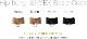 ルナクリスティー・新マイクロファイバー・ヒップハングショーツ3222EX・モカ&ブラック4枚セット