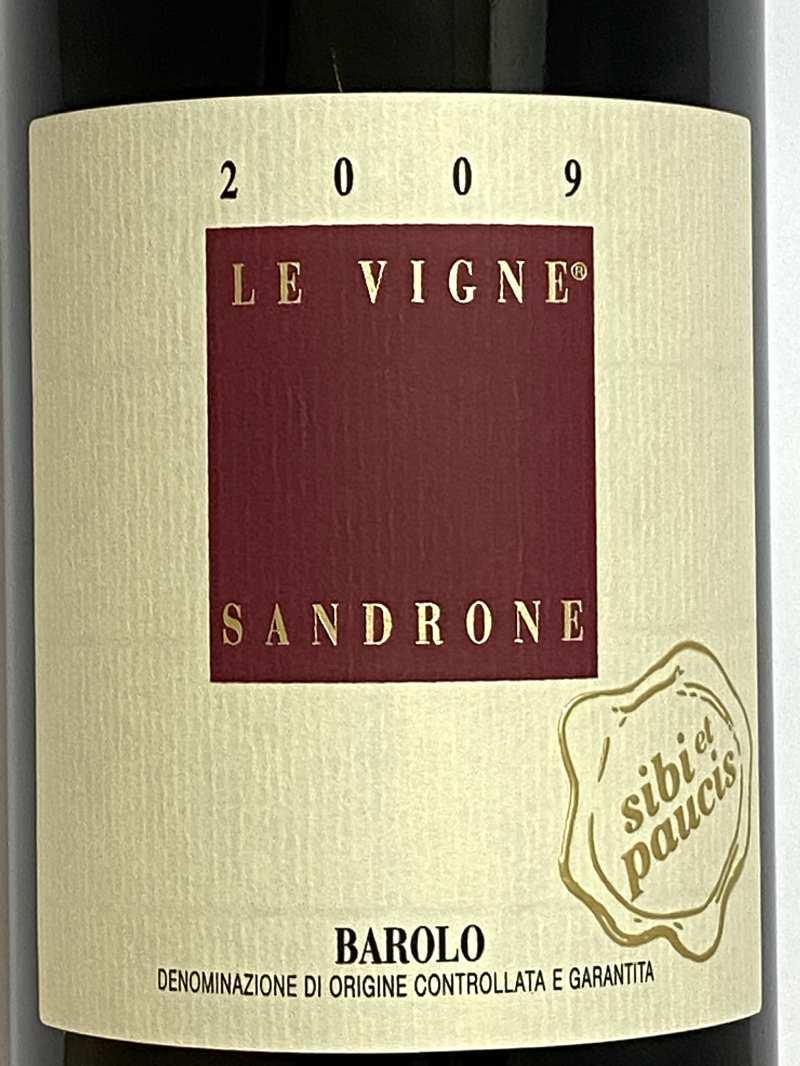 2009年 ルチアーノ サンドローネ バローロ レ ヴィーニェ シビ エ パウチ 750ml イタリア 赤ワイン