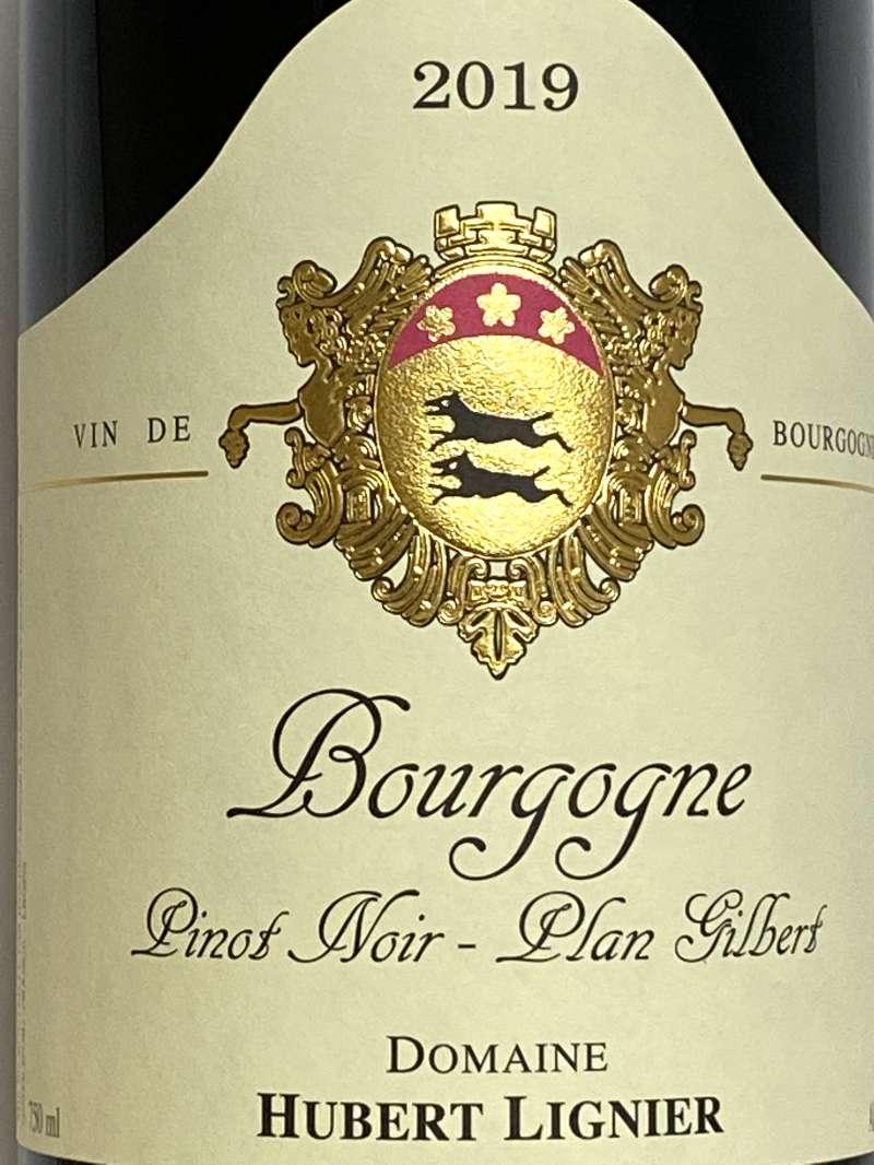 2019年 ユベール リニエ ブルゴーニュ ピノノワール プラン ジルベール 750ml フランス 赤ワイン