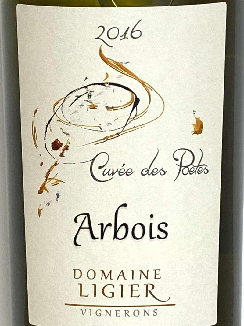 2016年 リジエ アルボワ ウイエ キュヴェ デ ポエット 750ml フランス ジュラ 白ワイン