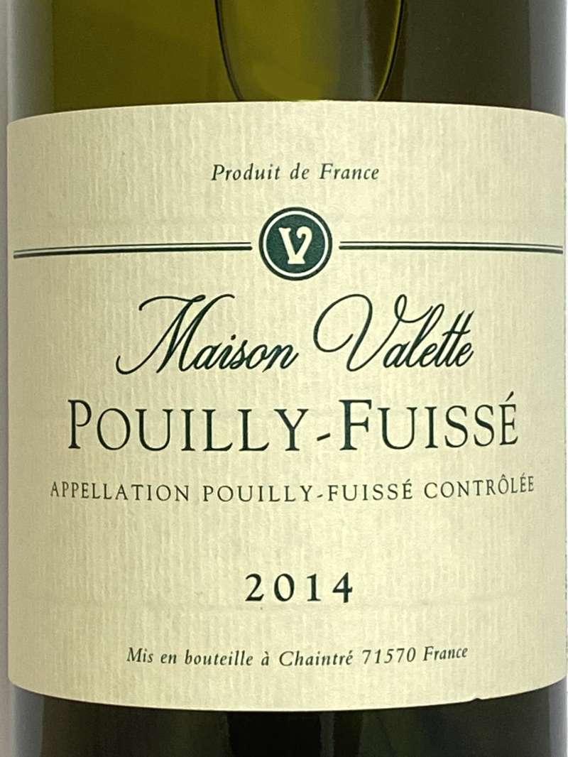 2014年 ヴァレット プイィ フュイッセ 750ml フランス ブルゴーニュ 白ワイン
