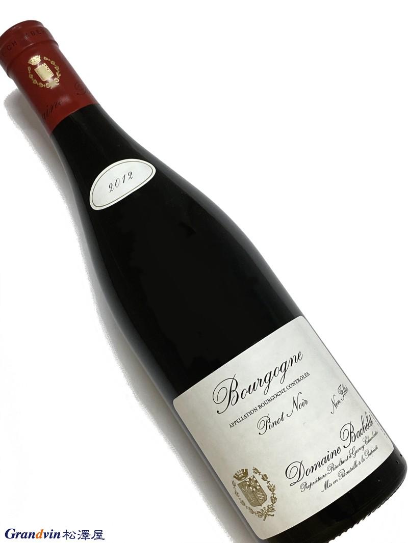 2012年 バシュレ ブルゴーニュ ピノノワール 750ml フランス 赤ワイン