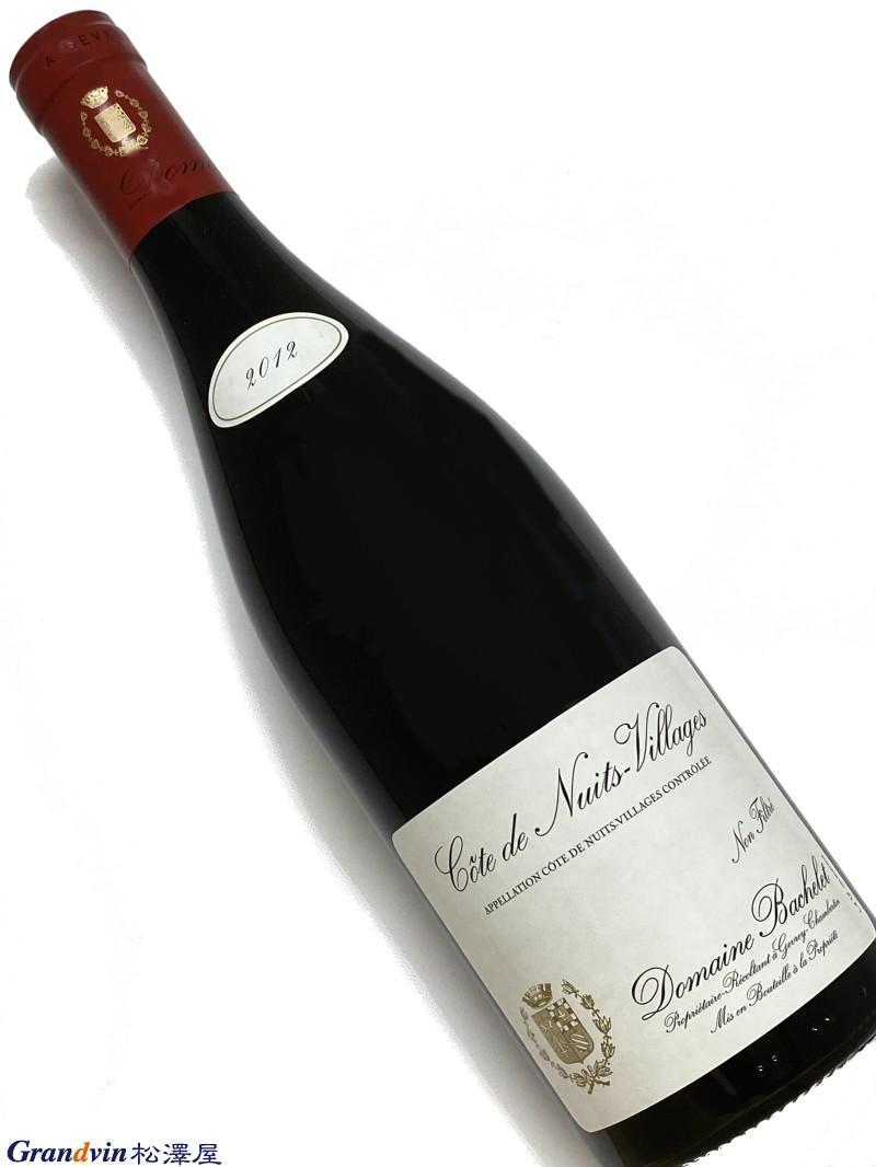 2012年 バシュレ コート ド ニュイ ヴィラージュ 750ml フランス ブルゴーニュ 赤ワイン