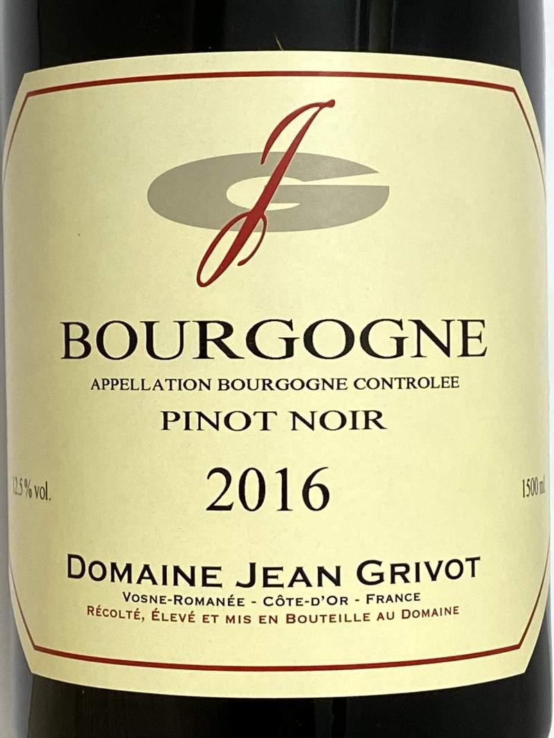 2016年 ジャン グリヴォ ブルゴーニュ ピノノワール 1,500ml フランス 赤ワイン