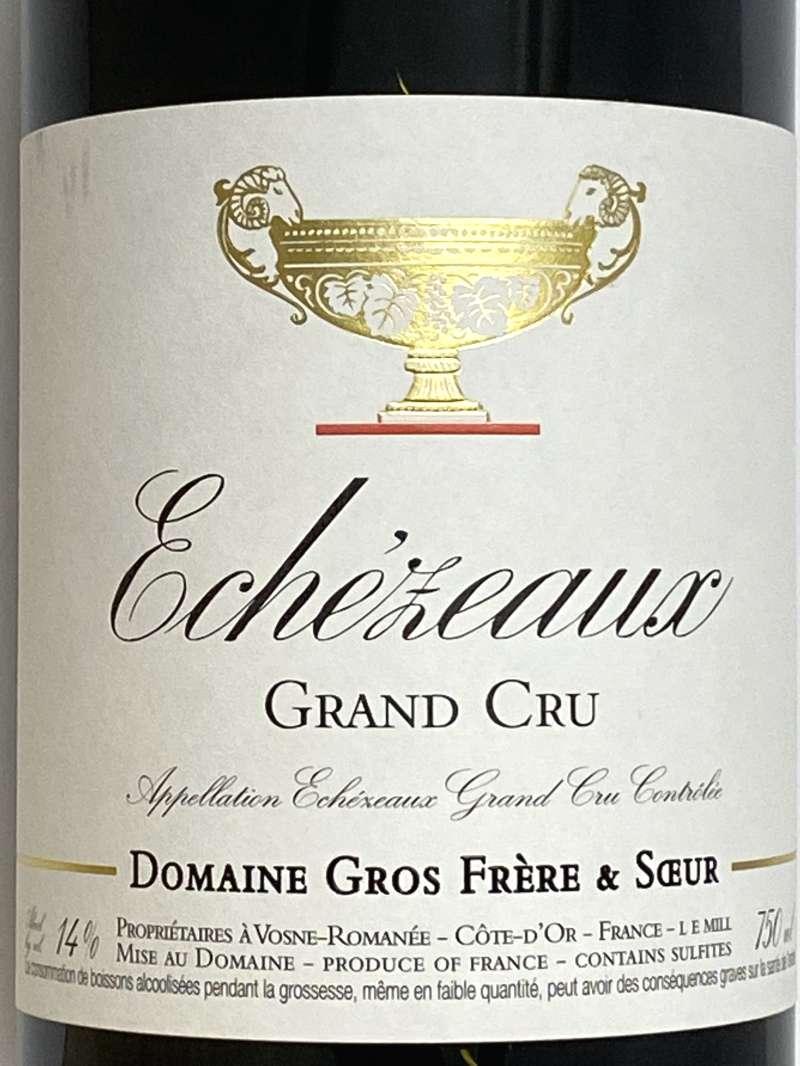 2018年 グロ フレール エ スール エシェゾー 750ml フランス ブルゴーニュ 赤ワイン