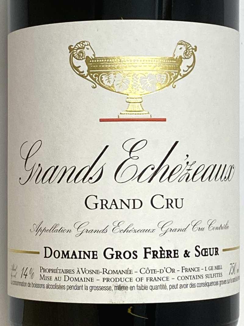 2018年 グロ フレール エ スール グラン エシェゾー 750ml フランス ブルゴーニュ 赤ワイン