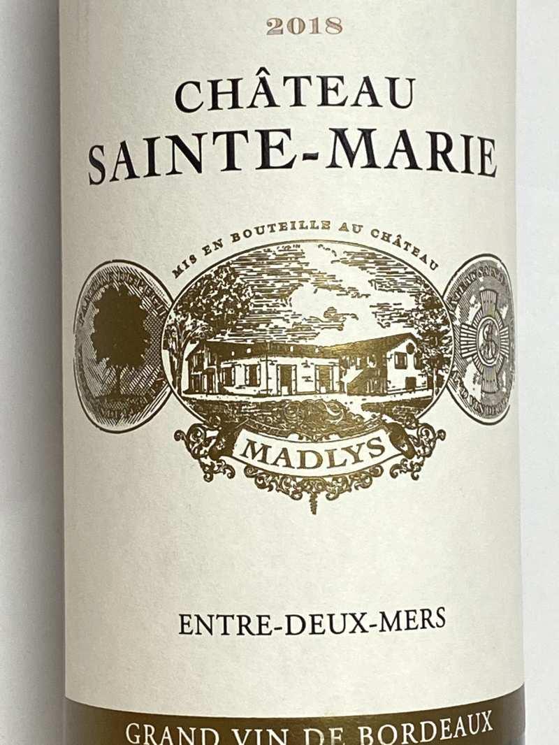 2018年 シャトー サント マリー マドリス 750ml フランス ボルドー 白ワイン