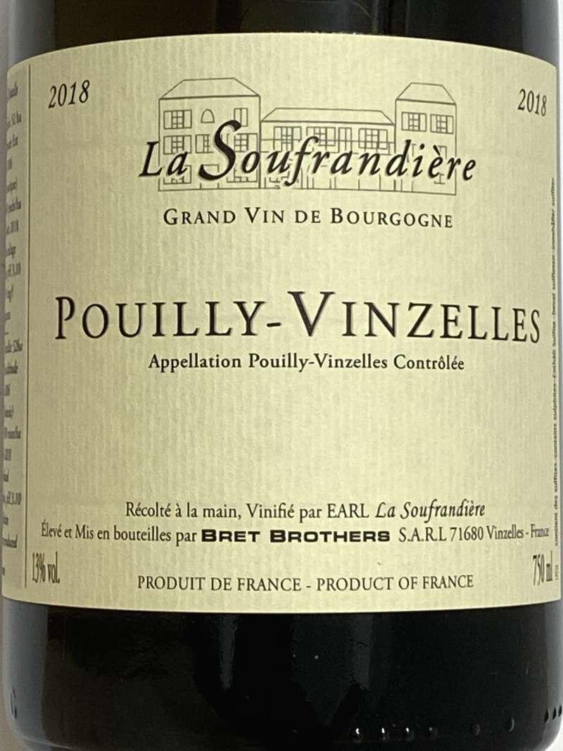 2018年 ラ スフランディエール プイィ ヴァンゼル 750ml フランス ブルゴーニュ 白ワイン