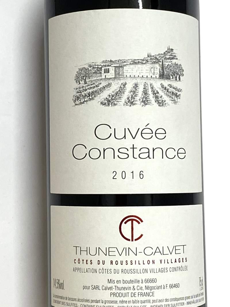 2016年 テュヌヴァン カルヴェ キュヴェ コンスタンス 750ml フランス 赤ワイン