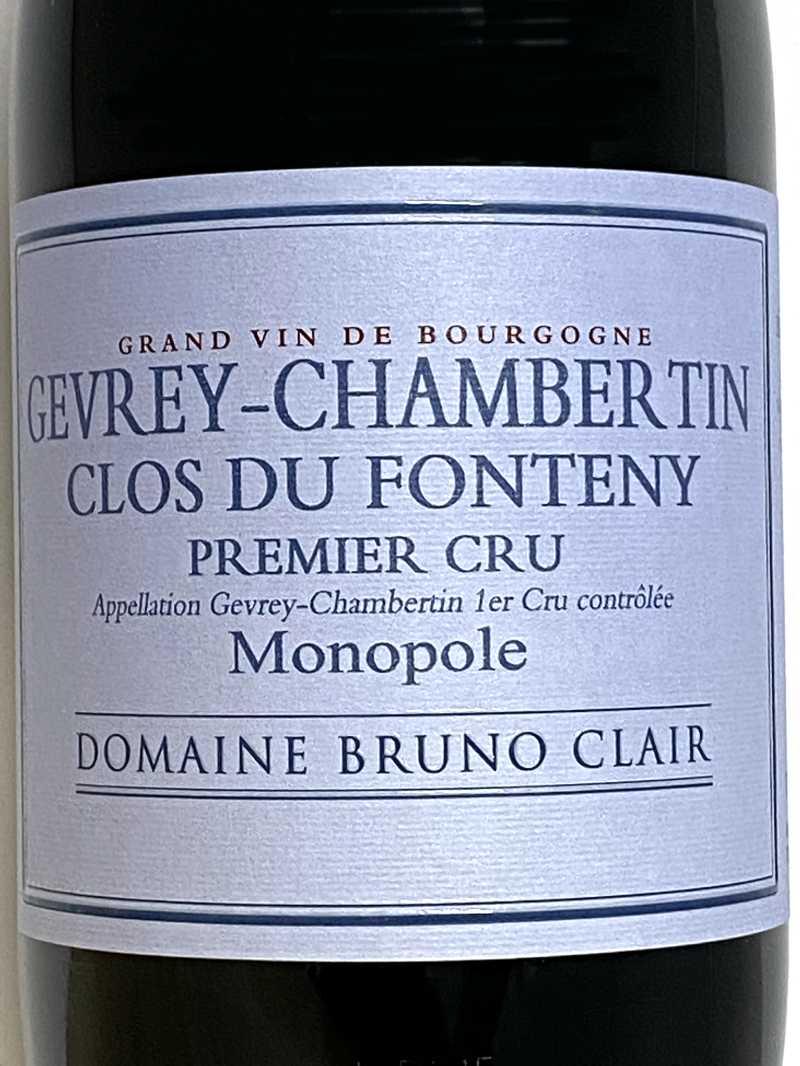2015年 ブリュノ クレール ジュヴレ シャンベルタン クロ デュ フォントニー 750ml フランス 赤ワイン