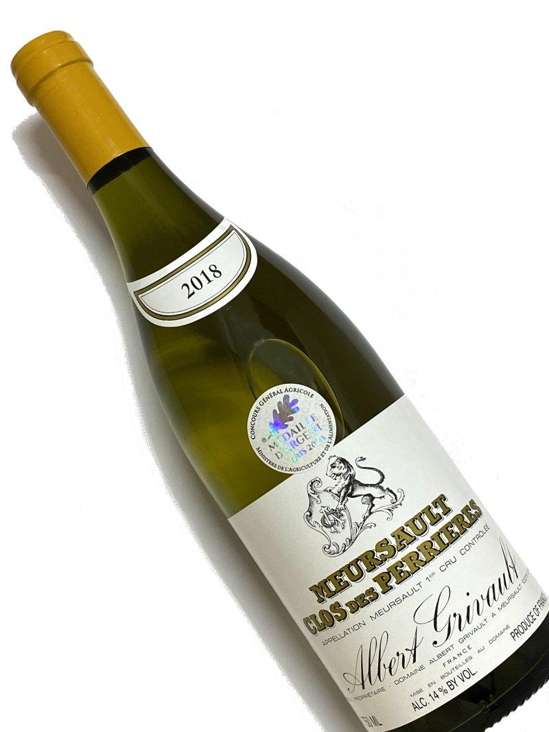 2018年 アルベール グリヴォ ムルソー クロ デ ペリエール 750ml フランス ブルゴーニュ 白ワイン