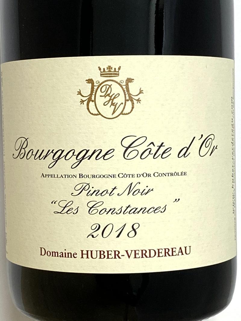 2018年 ユベール ヴェルドロー ブルゴーニュ コートドール レ コンスタンス 750ml フランス 赤ワイン