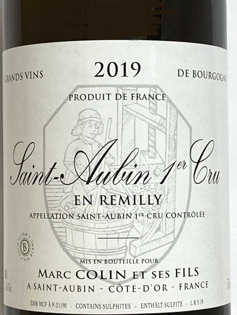 2019年 マルク コラン サントーバン アン レミリィ 750ml フランス ブルゴーニュ 白ワイン