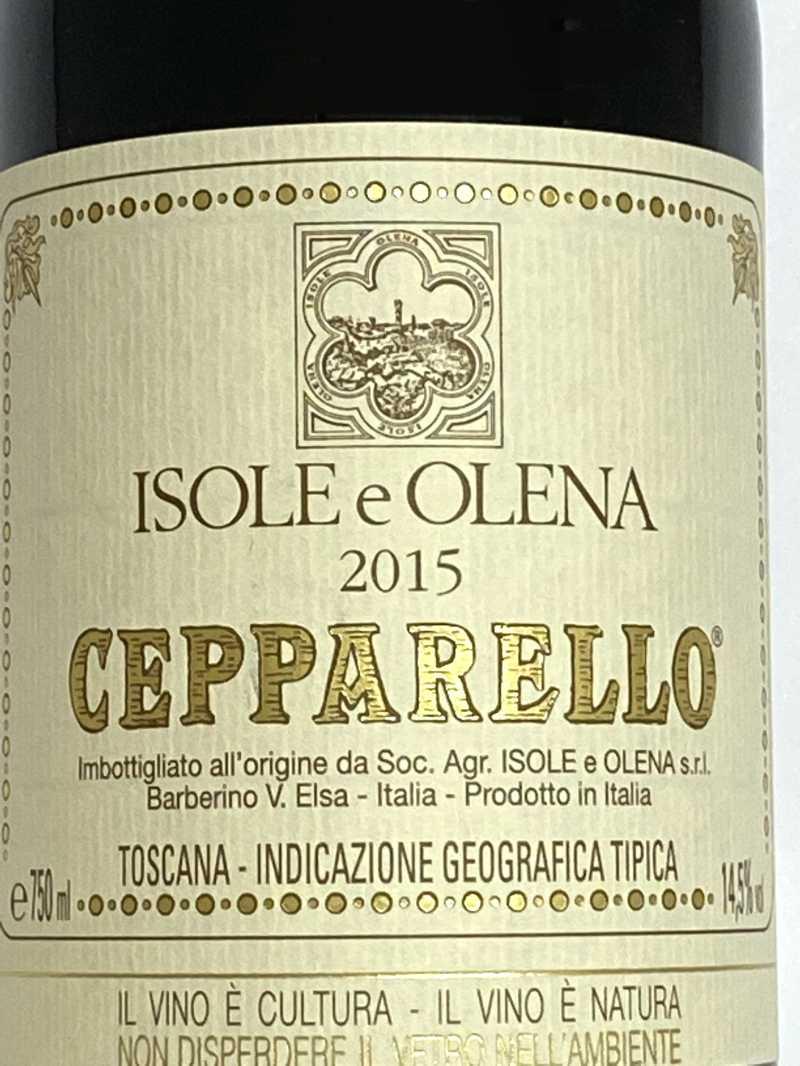 2015年 イゾレ エ オレーナ チェパレッロ 750ml イタリア トスカーナ 赤ワイン