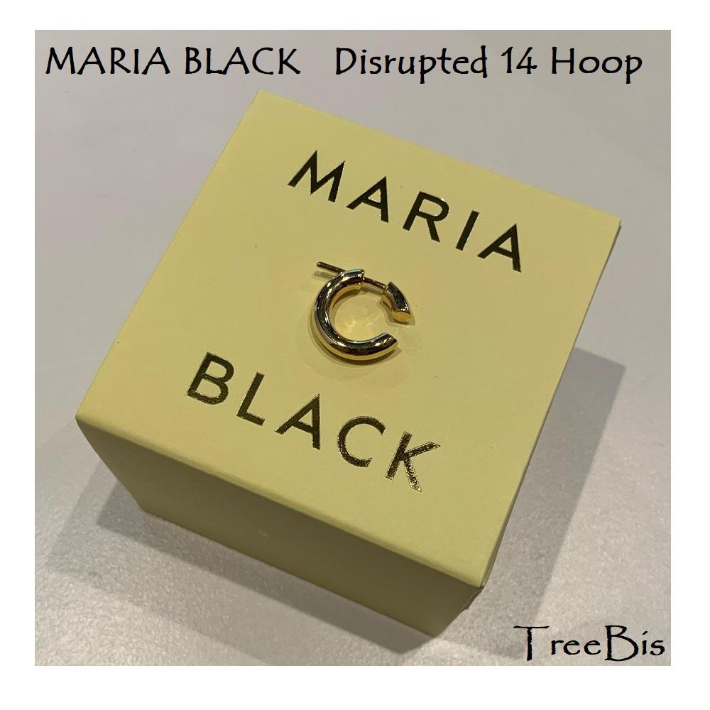 Maria Black(マリアブラック) 100454 Disrupted 14 Hoop Gold ピアス