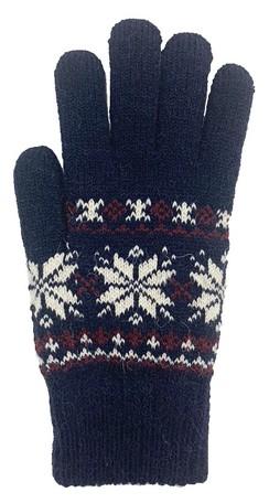 手袋 内ボア 5本指 雪結晶 ふわふわ あったかい 暖かい 厚め レディース