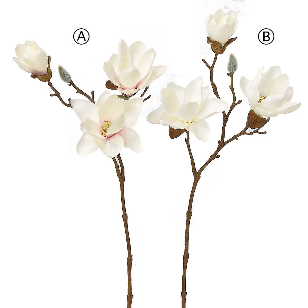 マグノリア×3 つぼみ×1 A-33255【造花】