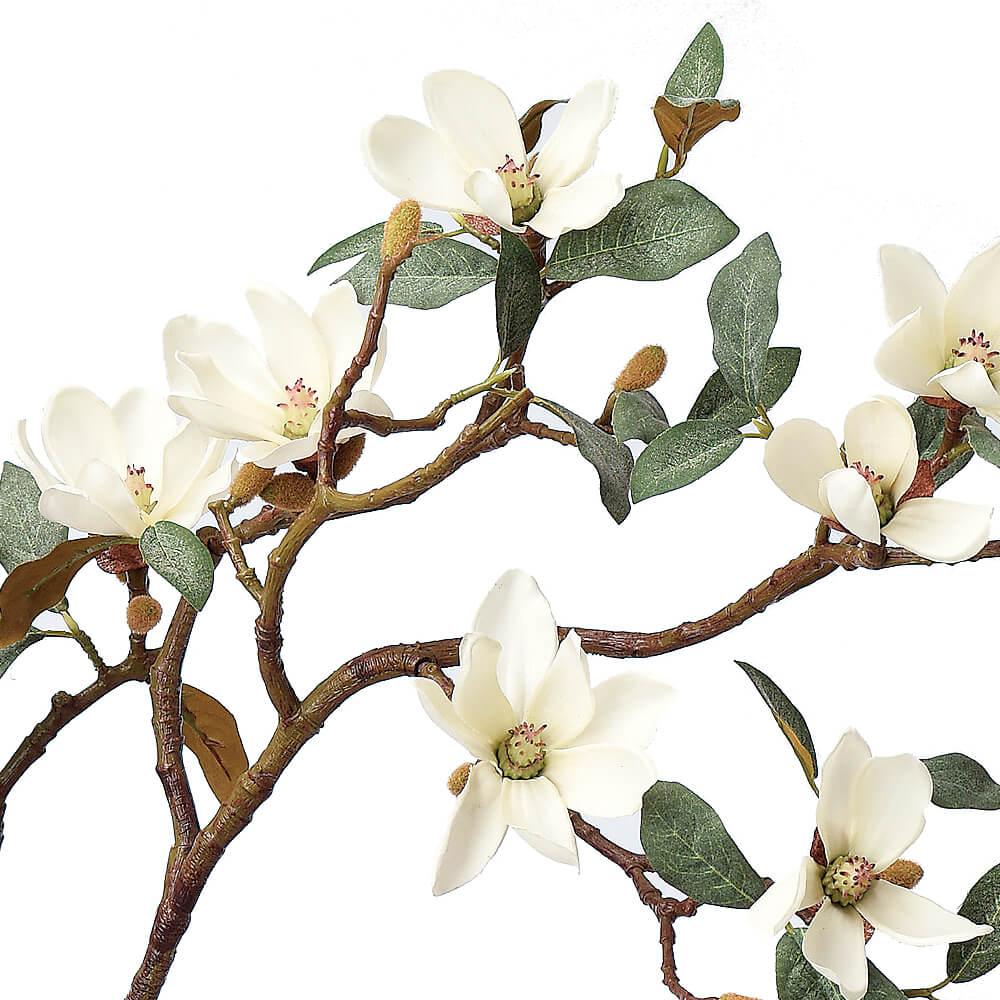 マグノリア×10 つぼみ×16 クリームホワイト A-33363【造花】