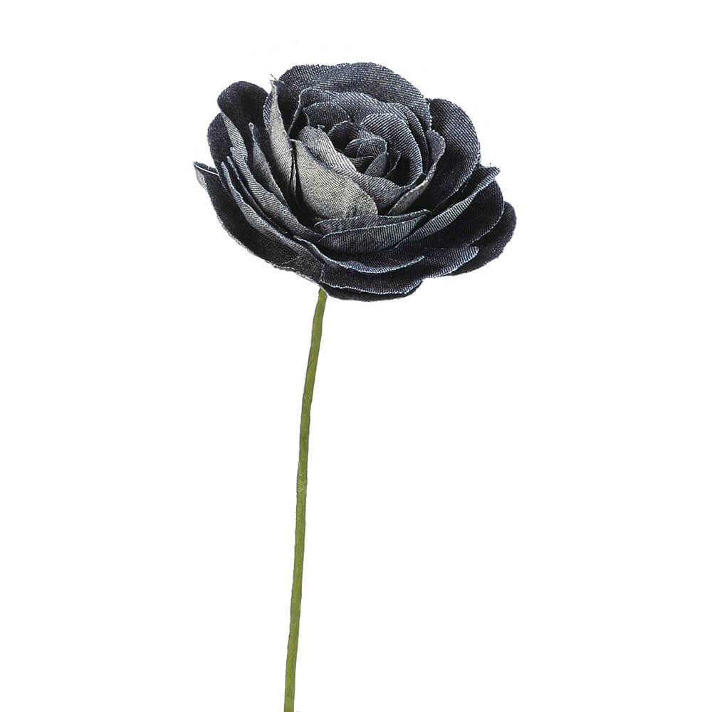 デニムラナンキュラスピック ブラック A-39613【造花】