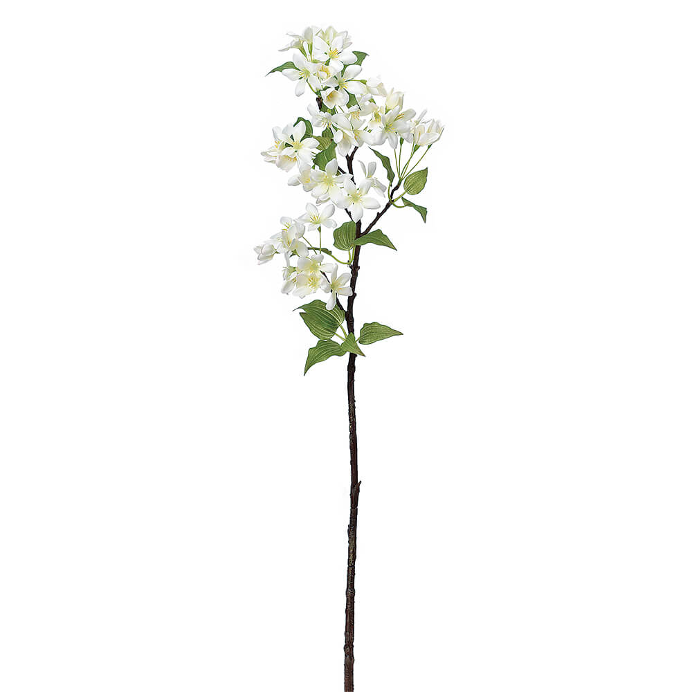 ブロッサムスプレー×45 クリームホワイト A-33866【造花】