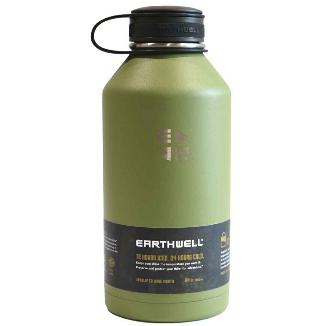 アースウェル クーラーボトル 64oz オープナーキャップ バキュームボトル 保冷 保温 ボトル 水筒  正規品